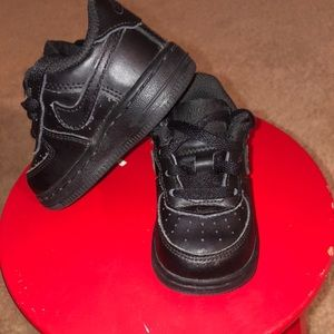 Black Air Force ones Toddler size 4